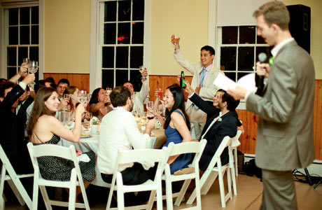 Best Man Toast Standing Ovation Wedding Sches