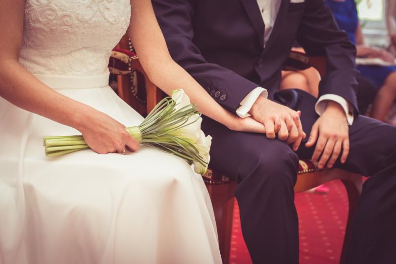 Bride wedding speech in church