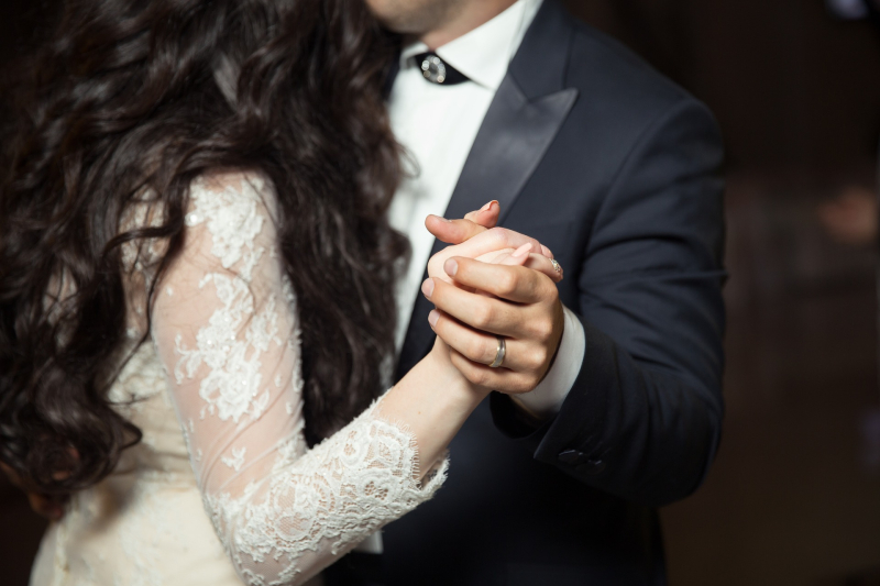 Touching wedding vows by the groom to the bride